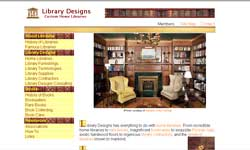 Home Page Image from www.librarydesigns.com - Photo Image by Tom Clark, Jr. of Original Mahogany Library by Artisans of the Valley