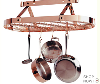 Image from www.potracksource.com copper pot rack