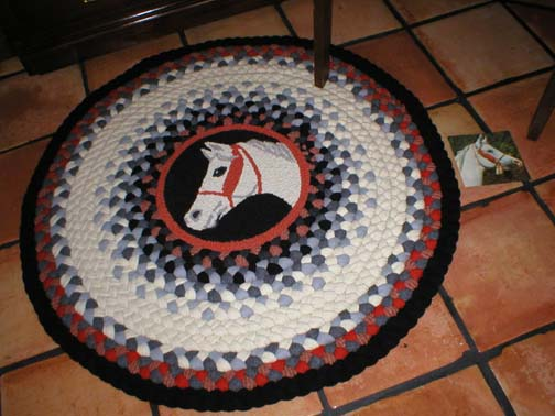 Marge's Braided Rugs - Image of Horse Rug