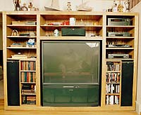 Open Front Oak Entertainment Center