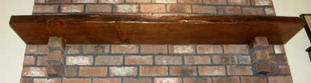 Solid Quarter Sawn Oak Mantle Underside View