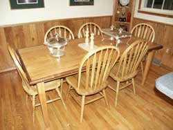 County Oak Dining or Kitchen Table in Setting