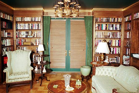 Solid Mahogany English Library by Artisans of the Valley French Door View