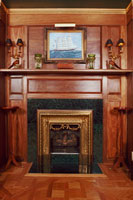 Solid Mahogany Fireplace Surround by Artisans of the Valley