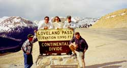 Eric Saperstein (left) Fritz & Lynna Neuberger, Tom Clark, and Daniel Demarco - Colorado Trip at Loveland Pass