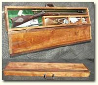 Custom Cherry and Walnut Gun Case (Click for larger picture)