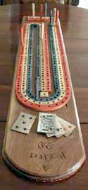 Cribbage Game Board - Hand Made Original Design - Top View