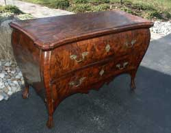 Circa 1750 Louis XV Chest of Drawers - Standing After Restoration