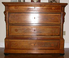 Circa 1780 Italian Chest Whole Before Restoration