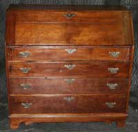 Circa 1750 Baker Secretary - After Restoration Top Closed