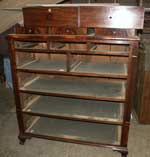 Circa 1810 Federal Dresser in Walnut Before Restoration Front View