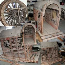 Painted Chinese Carrige - Photo Group Before Restoration