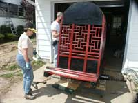 Painted Chinese Carrige - In Progress Cindy Painting Back