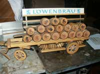 Circa 1950 Lowenbrau Beer Wagon - Wagon Before Restoration