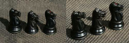 Restored Knights from Jaques of London antique chess set