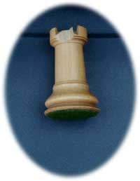 Staunton Chess Set - Rook Before Restoration Side View