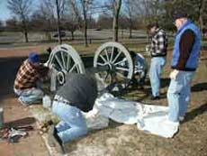 Stan Saperstein, Dr. David Martin and Cannon Assembly Team Monmouth Battlefield Cannon Restoration Project - Artisans of the Valley