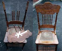 Chair Repair - Before & After(View larger picture)