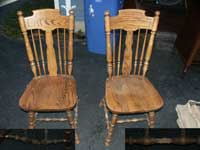 Oak chairs Before Restoration