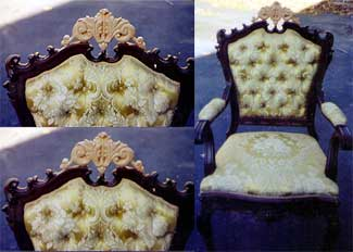 Artisans of the Valley Restoration - Ornate Hand Carving on Antique Chair Restoration