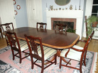 Duncan Phyfe - Mahogany pedestal table - Restoration Complete