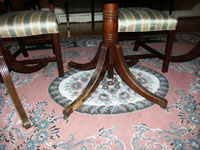 Duncan Phyfe - Mahogany pedestal table - Feet Before Restoration