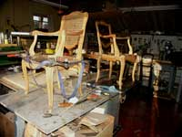 Four Victorian Chairs - In Progress Restoration Strap Clamp
