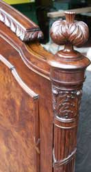 Walnut Bedroom Set Restoration Complete Post Closeup
