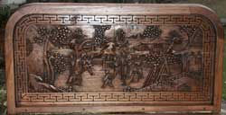Hand carved bar lid - underside after restoration