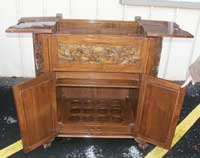 Hand carved bar - before restoration open