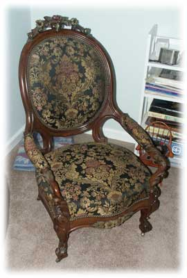 Victorian Chair After Restoration - Upholstery Complete