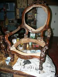 Victorian Chair Before Restoration - Whole