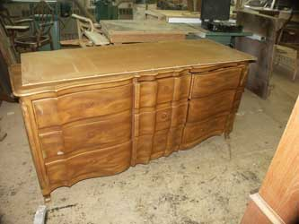 Solid cherry Dresser - Before Restoration