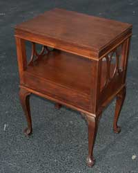Victorian Mahogany Claw Foot End Table Restoration Complete Back