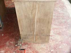 Circa 1870 Esthetic Movement Hutch - Restoration in Progress Filled Side Crack