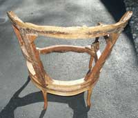 Louie XV Bergerie Chair After Restoration Reinforced Back 2