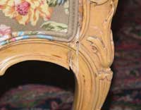 Louie XV Bergerie Chair Before Restoration Cracked Right Joint
