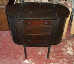 Victorian Sewing Table Before Restoration