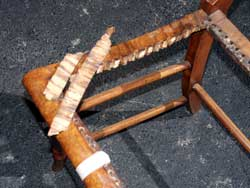 Tiger Maple caned seat chair - Split caning holes