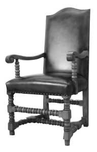 Artisans of the Valley Concise History of American Furniture - Jacobean Chair