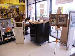 Artisans of the Valley Demonstration Setup at Woodworkers Warewhouse View 2