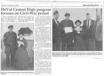 Stan Saperstein & Cindy Saperstein - Historic Civil War Renactment Hopewell Valley Central High School