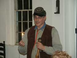 Stan Saperstein providing Historic Presentation on Early American Woodworking at Bordentown Historical Society
