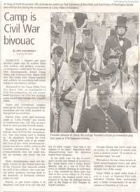 "Camp Olden is Civil War Bivouac"" by Amy Kuperinsky Trenton Times Article detailing some of Stanley's activity with Camp Olden, telling the story behind the reenactment"