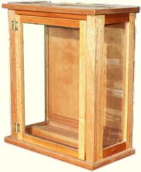 Mahogany Curio Display Case