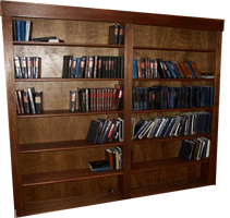 Original Design Mahogany Bookcases by Artisans of the Valley View 1