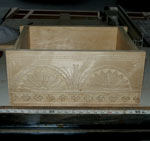 In Progress Custom Hand Carved Poplar Bible Box