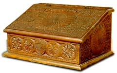 Fresian Carved Desk Box (click for larger photo)