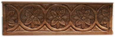 Custom Solid Walnut Hand Carved Bible Box - Front Carving Pattern