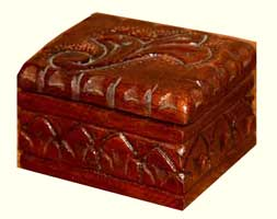 Hand Carved Relic Box